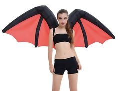 These lightweight bat wings inflate in seconds from a built-in battery-powered fan and have a massive wingspan over 5.5 feet wide.