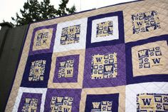 University of Washington Huskies quilt. It's always nice working with purple and gold!