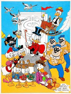 https://flic.kr/p/qjn4YN   Uncle Scrooge and Company by Carl Barks