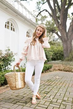 eyelet off the shoulder top | spring fashion | spring style | how to style an off the should top | fashion for spring | style ideas for spring | warm weather fashion | fashion tips for spring || a lonestar state of southern