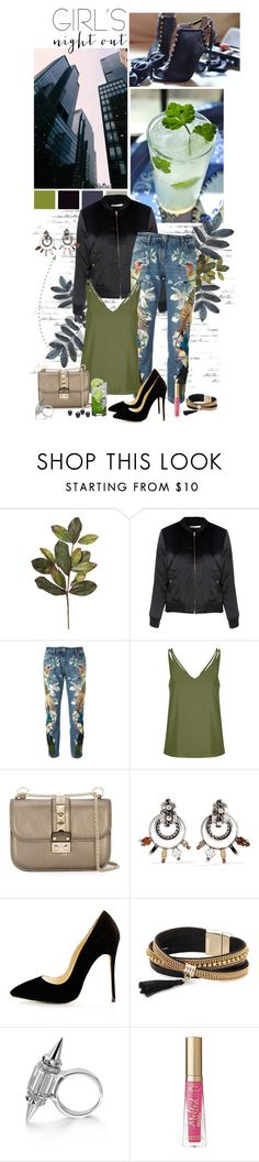 """Untitled #457"" by auby ❤ liked on Polyvore featuring Glamorous, Roberto Cavalli, Topshop, Valentino, DANNIJO, Simons and Too Faced Cosmetics"