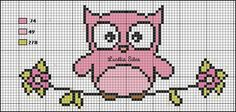 Owl Cross Stitch Pattern #cross #stitch