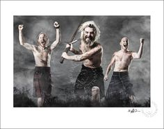 Yes. They're wearing kilts. TRUE SCOTSMEN