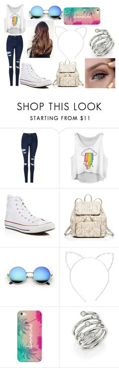 """""""Summer Travels"""" by victoria1221 ❤ liked on Polyvore featuring Topshop, Converse, Kate Spade, Cara, Casetify and Michael Kors"""