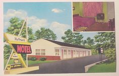 HOFFMAN'S MOTEL POSTCARD, YORK, PA. VINTAGE 1960's UNUSED York Hotels, York Pa, Motel, Pennsylvania, Shots, Action, Places, Outdoor Decor, Travel