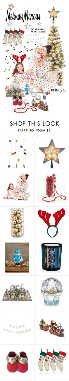 """The Holiday Wish List With Neiman Marcus: Contest Entry"" by meyli-meyli ❤ liked on Polyvore featuring Neiman Marcus, Kurt Adler, Bed Head by TIGI, Glässer, Diptyque, Christian Lacroix, House of Sillage, Jonathan Adler and NMgifts"