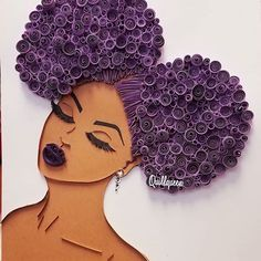 Black Love Art, Black Girl Art, Art Girl, Quilling Work, Quilling Craft, Paper Quilling Designs, Quilling Patterns, Drawings Of Black Girls, African Art Paintings