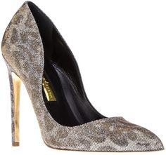 Metallic Leopard Print Shoe - Lyst