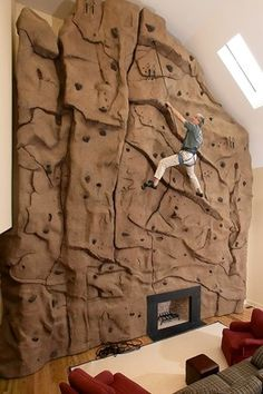 Home Rock Climbing Wall Design find this pin and more on rock climbing home climbing walls Concrete In Home Designs Rock Solid Dcor Rock Climbing Gymhome