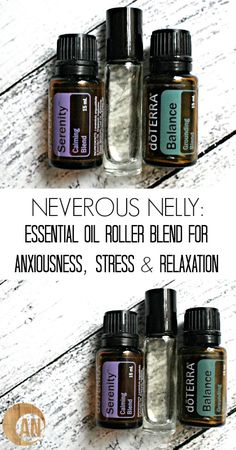 Essential Oil Roller Blend for Anxiousness, Stress & Relaxation