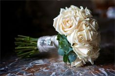 Cream wedding bouquet with crystal detail from Best at hire - online hire marketplace