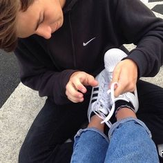 Babe tie my shoes please