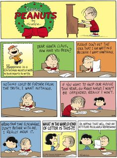December 2011 - Happiness is a Christmas vacation with no book reports to write Christmas Comics, Peanuts Christmas, Charlie Brown Christmas, Funny Christmas, Charlie Brown Quotes, Charlie Brown And Snoopy, Snoopy Love, Snoopy And Woodstock, Peanuts Cartoon
