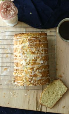 A delightful coconut almond tea cake. Serve with coffee or tea. Deliciously delicate and full of coconut and almond flavor. Tea Loaf, Delicious Desserts, Dessert Recipes, Coconut Dream, Almond Tea, Coconut Recipes, Toasted Coconut, Recipe For Mom, Tea Cakes