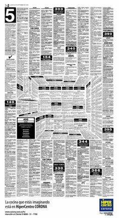 Publicidad en los clasificados de un periódico.