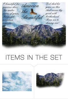 """""""America the Beautiful"""" by sunflower1999 ❤ liked on Polyvore featuring art"""