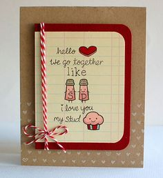 salt pepper n studmuffin card - Shaker Cafe Ideas
