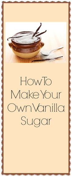 If you like doing things yourself, you will love this easy vanilla infused sugar recipe. Get it ready and use it for holiday baking or when you want to make something special.