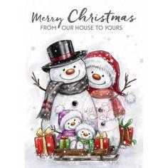 stamp set Snowman Family 180017/0496