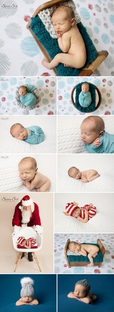 11 day old Hunter and his holiday newborn photo shoot in studio. Sunny S-H Photography Winnipeg