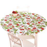 Fitted Elastic No Slip Fit Table Cover With Soft Flannel Backing Round Apples Fitted Table Cover Fitted Tablecloths Table Cloth
