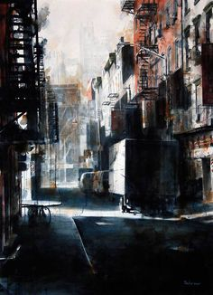 Using Grisaille With Watercolours Watercolor Architecture, Watercolor Landscape, Silk Painting, Watercolour Painting, Watercolor Ideas, Watercolours, Grace Building, Paint Run, Commercial Street