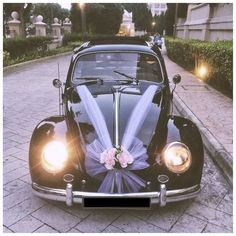 That& All Volks Singapore - Wedding Beetle Hire Singapore Bridal Car decor. Diy Wedding, Rustic Wedding, Wedding Cars, Wedding Car Ribbon, Wedding Ceremony, Wedding Ideas, Just Married Car, Bridal Car, Wedding Car Decorations