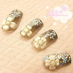 Aliexpress.com : Buy V 043 belt white adhesive paillette nail art false nail patch from Reliable gel nail suppliers on Jessie's shop. $5.30