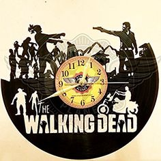 VINYL WALL CLOCK WALKING DEAD 3