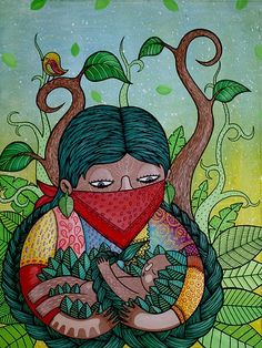Green Magic, Ceramic Birds, Arte Popular, Indigenous Art, Psychedelic Art, Fractal Art, Drawing People, Female Art, Art Inspo