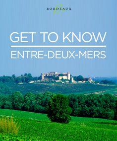 Get to know the home of white Bordeaux, AOC Entre-Deux-Mers. #wine #whitewine #EntreDeuxMers #Bordeaux #SauvignonBlanc