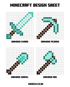 Perler Minecraft templates