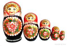 Poupée russe - Fleurs