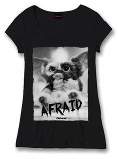 Gremlins Girlie T-Shirt Afraid schwarz