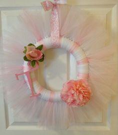 Pink/White Wreath
