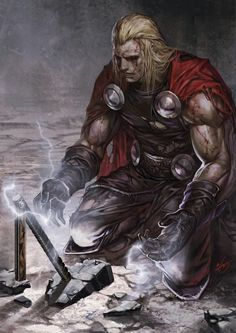 Marvel Comic Book Artwork • Thor. Follow us for more awesome comic art, or check out our online store www.7ate9comics.com