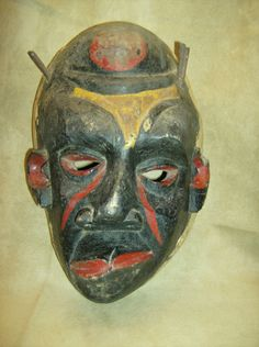 PENDE SICKNESS MASK Deformity Tribal Wood Igbo Ibibio African Art Collectible