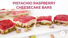 Pistachio Raspberry Cheesecake Bars | Collab with The Girls With Glasses...