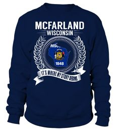 McFarland, Wisconsin Its Where My Story Begins T-Shirt #Mcfarland
