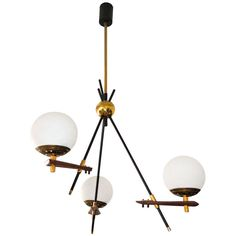 Stilnovo Asymmetric Chandelier | From a unique collection of antique and modern chandeliers and pendants  at http://www.1stdibs.com/furniture/lighting/chandeliers-pendant-lights/