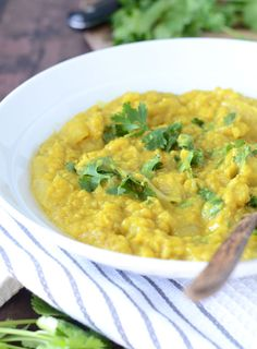 This coconut red lentil dahl is very easy to make with everyday pantry ingredients and makes for an incredibly satisfying and comforting meal.