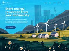 Innovative Energy Service Website by tubik - Movie, Animation Studio, Filmmaking Trailer Parallax Effect, Ui Ux Designer, Alternative Power Sources, Energy Services, Ui Web, Sustainable Energy, Landing Page Design, Website Design Inspiration, Interactive Design