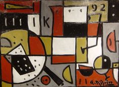 Alceu Ribeiro, bodegón constructivo Painters, American
