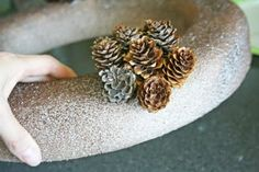 Ucreate: Pinecone Wreath Tutorial by V and Co.