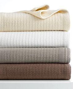 Calvin Klein Home Studio Bedding, Mini Stripe Textured Throw - Blankets & Throws - Bed