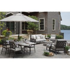 A table set for Spring 🌷 With summer soirées and patio season coming up I am in love with this European inspired wrought iron material that brings a high level of sophistication 💚 Outdoor Decor, Resin Patio Furniture, Backyard Furniture, Pergola Designs, Patio Decor, Outdoor Patio Decor, Backyard Landscaping Designs, Outdoor Coffee Tables, Patio Layout