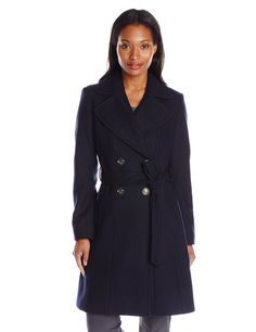 Via Spiga Women's Double-Breasted Wool Coat with Belt *** Check out the image by visiting the link.