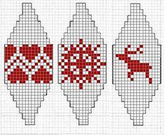 Kerstballen breien. Christmas balls pattern
