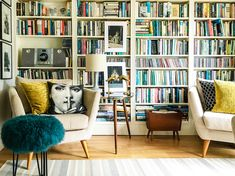 Living room for book lovers