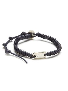 Coiled Leather Bead Bracelet by Chan Luu Men?s